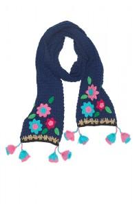 Mim-Pi Strick-Schal Blumen