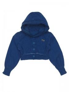 Mim-Pi Kurz Kapuzen-Jacke/Blazer blau