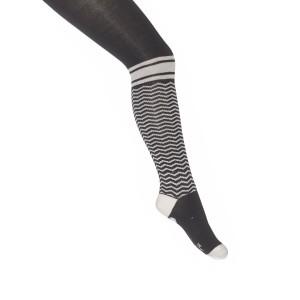 Mim-Pi Strumpfhose Streifen schwarz-weiß