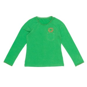 Mim-Pi Basic-Langarm-Shirt/Longsleeve grün