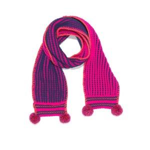 Mim-Pi Winter-Schal Streifen pink navy