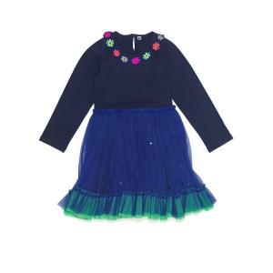 Mim-Pi Petticoat/Tüll-Kleid navy