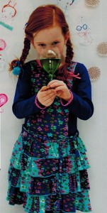 Mim-Pi Kleid Flower-Print blau