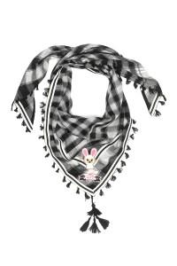 Mim-Pi Schal schwarz weiß