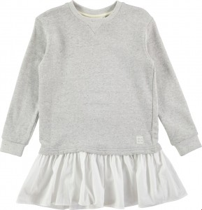 Molo Mädchen Langarm-Sweeatshirt-Kleid CAPRICE grey melange
