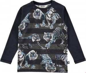 Molo Jungen Langarm-Shirt/Longsleeve RAMSEY blue Tigers