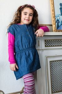 Aya Naya Tunika-Kleid CISSE denim 110 - 5y