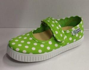 NATURAL WORLD Mädchen Schuhe Punkte grün (pistazie)
