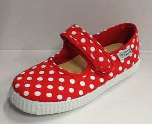 NATURAL WORLD Mädchen Schuhe Punkte rot
