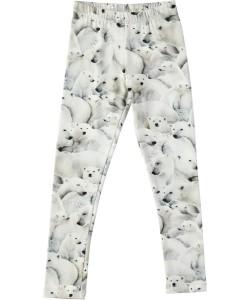 Molo Mädchen Legging NIKI Polar Bear Jersey