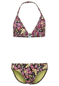 O´Neill Bikini M&M Triangle black Blumen