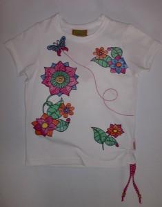 Paglie T-Shirt weiss mit Print