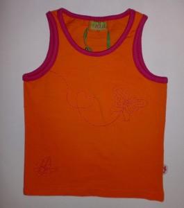 Paglie Träger-Top orange-pink