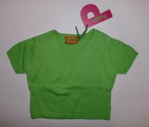 Paglie Kurzarm Cardigan/Pulunder grün