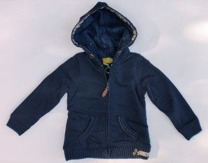 Paglie Kapuzen Sweat-Jacke blau