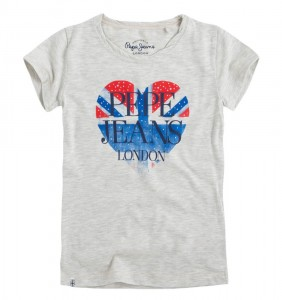 Pepe Jeans London T-Shirt DARIA light grey