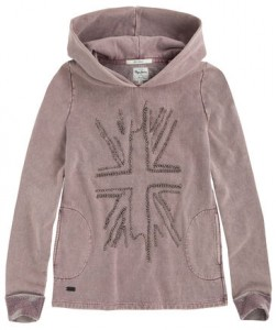 Pepe Jeans London Kapuzen-Sweat-Shirt HORTENSE wine