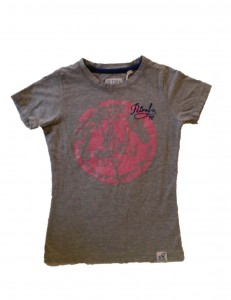 PETROL T-Shirt light grey mele Rollschuh-Print