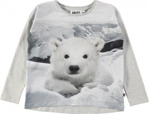 Molo Mädchen Sweat-Shirt/Langarm-Shirt RENATE Polar Bear