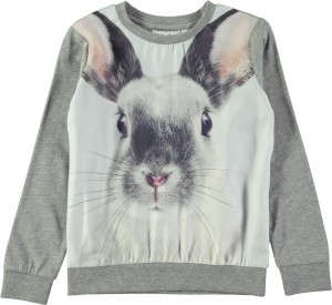 Molo Mädchen Sweat-Shirt/Langarm-Shirt RENITA Winter Hare