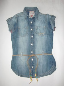 RETOUR Jeans Bluse / Tunika blue denim