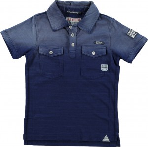 RETOUR DENIM Polo-Shirt DANO dark indigo blue