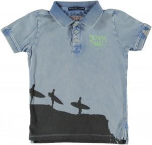 RETOUR DENIM Polo-Shirt KYLE light indigo blue