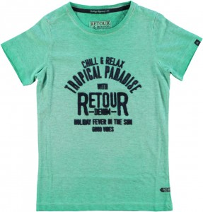 RETOUR DENIM T-Shirt NATHAN fresh green