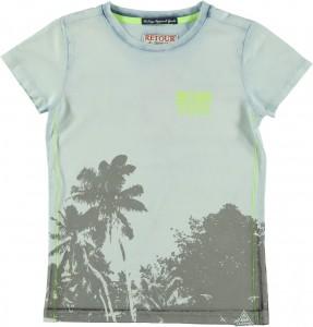 RETOUR DENIM T-Shirt ZACK light indigo blue