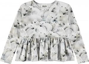 Molo Mädchen Langarm-Shirt RISA Polar Bear Jersey