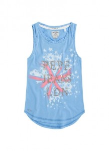 Pepe Jeans London Top EMANUELA middle blue