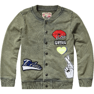 Vingino Sweat-Jacke/College-Jacke Patches OFRA army green