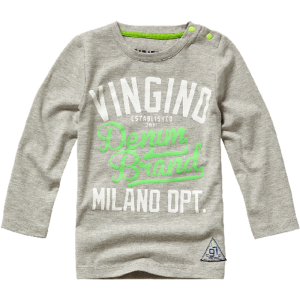 Vingino Mini Jungs Langarm-Shirt JOVAN grey mele