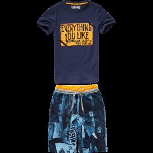 Vingino Schlafanzug/Pyjama kurz WES SET dark blue