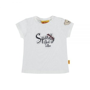 Steiff  T-Shirt SPORTY GIRL weiss