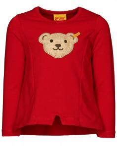 Steiff Mädchen Sweatshirt mit Quietschebär tango red