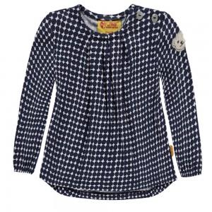 Steiff Mädchen Langarm-Shirt/Tunika allover multicolored schwarz weiß