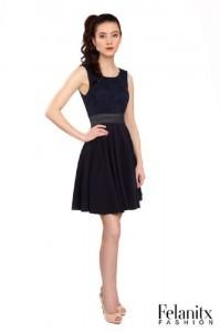 FELANITX festives Kleid Konfirmation schwarz