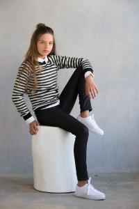 Geisha Pullover/Longsleeve Streifen black offwhite