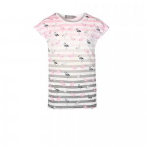 Geisha T-Shirt Flamingo pink/offwhite/grey