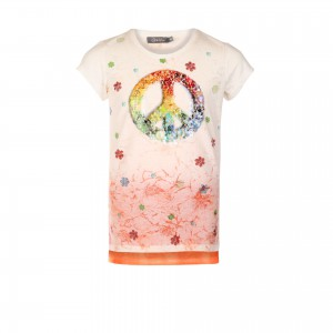 Geisha T-Shirt Peace Pailletten multicolor