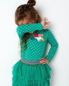 Mim-Pi Langarm-Shirt/Longsleeve Einhorn Punkte grün