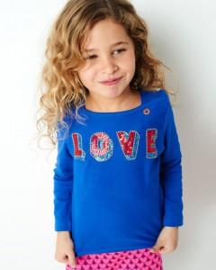 Mim-Pi Langarm-Shirt/Longsleeve LOVE blau