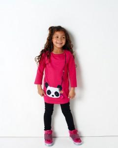 Mim-Pi Langarm-Kleid Panda pink