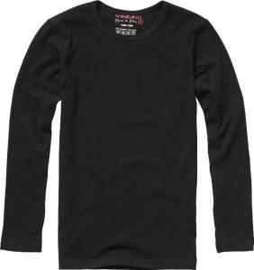 Vingino Basic-Longsleeve Shirt Boys Rundhals-Ausschnitt schwarz
