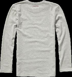 Vingino Basic-Longsleeve Shirt Boys Rundhals-Ausschnitt hellgrau melange