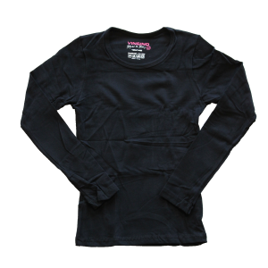 Vingino Basic-Longsleeve Shirt Girls Rundhals-Ausschnitt schwarz
