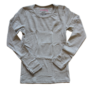 Vingino Basic-Longsleeve Shirt Girls Rundhals-Ausschnitt grey melange