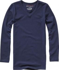 Vingino Basic-Longsleeve Shirt Boys Rundhals-Ausschnitt navy
