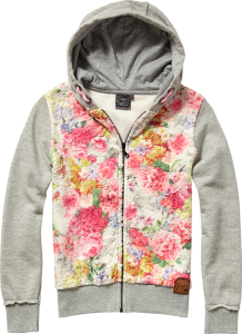 Vingino Kapuzen-Sweat-Jacke OPHELIE grey mele